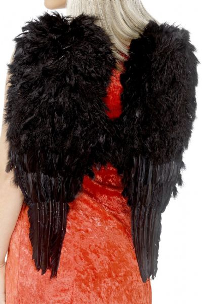 Feather Angel Wings - Black
